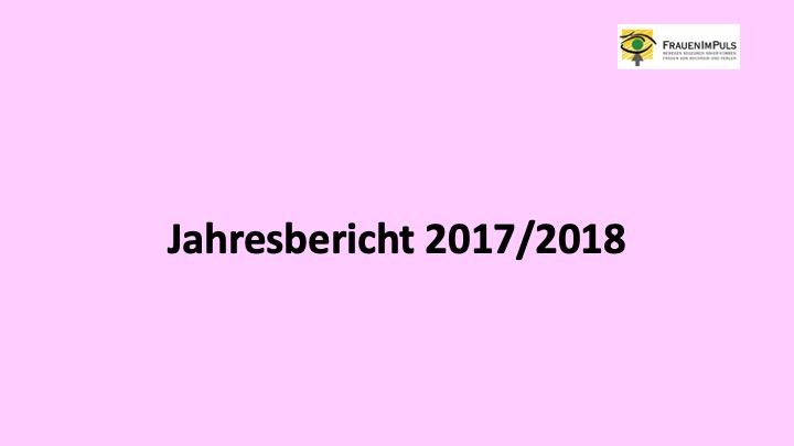 Jahresbericht 2017/2018